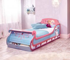 Disney Frozen Single Sleigh Bed - HelloHome