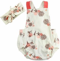 Adorable summer floral bubble romper with matching headband   Baby Girl Summer Outfits   Girl Summer Trends #ad #summeroutfits #bubblerompers #babygirloutfits
