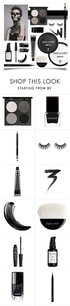 """Halloween make-up"" by ida-sofie-strom ❤ liked on Polyvore featuring beauty, Wet n Wild, Gorgeous Cosmetics, Context, Clarins, Manic Panic NYC, Maybelline, Giorgio Armani, NYX and Root Science"