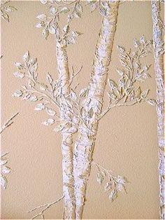Art Tutorial - plaster trees wall art