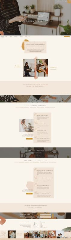 How to showcase marketing services. Here is the Marketing Services page layout for the Co… (With images) Website Layout, Web Layout, Layout Design, Website Design Inspiration, Layout Inspiration, Creative Inspiration, Web Design Trends, Poster Graphics, Ecommerce