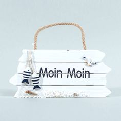 Moin Moin HOLZSCHILD für die maritime Deko Zuhause >>