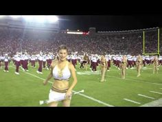 "During halftime of the October 18, 2014 football game between reigning national champs Florida State and visiting Notre Dame, the Florida State Marching Chiefs channeled Beyoncé -- and her famous choreography -- for a rousing rendition of ""Single Ladies"". http://www.huffingtonpost.com/2014/10/22/fsu-marching-band-single-ladies_n_6027580.html?ncid=fcbklnkushpmg00000063"