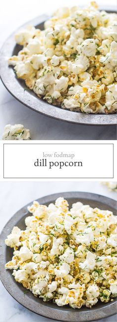 This low fodmap dill popcorn is one of my favorite low fodmap snacks. It's so simple and tastes like a dill pickle! Yum!
