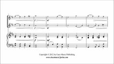 Monk: Abide With Me Sheet Music for: Two violins and piano Includes: One score and two parts pages) Price: USD