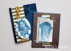 Holly's Hobbies: Two for Tuesday - Picture Perfect Birthday Masculine cards with Brusho from @stampinup