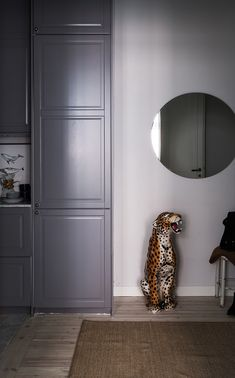 Wild cat statues for home styling. Scandinavian decoration, interior ideas and inspiration.