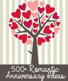 """Tired of spending your anniversary going to """"dinner and a movie"""" or flowers as an anniversary gift? We have over 500 romantic anniversary ideas and anniversary gift ideas to make your day special."""
