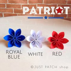 Patriot Theme  Royal Blue Red and White  20 by JUSTPATCHshop