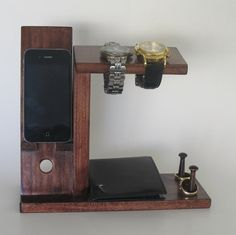 Hey, I found this really awesome Etsy listing at https://www.etsy.com/listing/173416458/iphone-stand-with-mens-valet-men-watch
