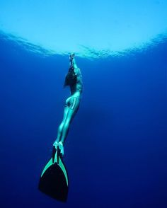 Freediving.