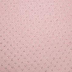 X*150-16,9-Tissu Minky Ultra doux Rose bébé Pois