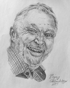"""22 Synes godt om, 1 kommentarer – Maja Ø. Oehlenschlæger (@artisticmoe) på Instagram: """"Bestilling 🎨 #portrait #drawing #drawingoftheday #art #drawingportrait #man"""""""