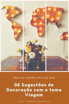 Decorar a sua casa pode ser mais fácil do que você acha! Com a nossa seleção de dicas para decoração como tema viagem, sua casa vai ficar com a sua cara! #viajandonajanela #diy #decoração #viagem #casa #viagem #art #quadro