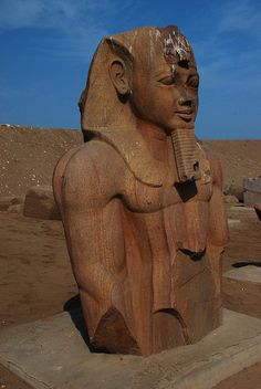 There are many statues of Ramesses II, probably brought here from Pi Ramesse, the capital built by Ramses II.