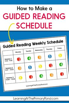 How to Make a Guided Reading Schedule - Learning at the Primary Pond