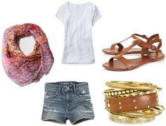 The summer scarf ups this outfit to chic.