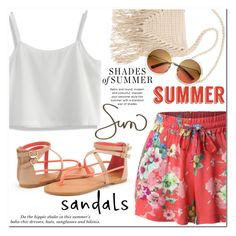 """Summer Sandals"" by christinacastro830 ❤ liked on Polyvore featuring LE3NO, Chicwish, Billabong, H&M and summersandals"