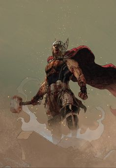 superheroes-or-whatever:  Thor: God of Thunder art by Esad Ribic