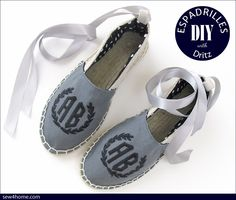 How to Make DIY Espadrilles with Dritz® | Sew4Home #sewing #monograms