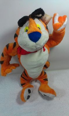 """Toy Network Kelloggs Frosted Flakes Tony the Tiger Stuffed Plush Animal Cat 19""""  #ToyNetwork"""