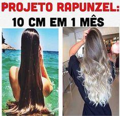 Projeto Rapunzel – 10 cm em 1 mês