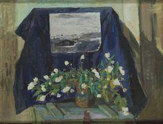 Andrzej Wroblewski - Recto/verso painting: Still Life With Drawing (Jasmin) / Peonies, 1954
