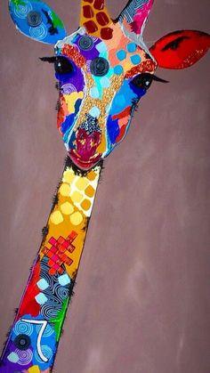 Giraffe Art, Giraffe Painting, Giraffe Drawing, Art Plastique, Animal Paintings, Painting Inspiration, Art Lessons, Painting & Drawing, Art For Kids