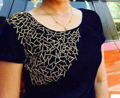 Salwar Neck Designs, Kurta Neck Design, Neckline Designs, Dress Neck Designs, Kurta Designs Women, Stylish Dress Designs, Designs For Dresses, Blouse Designs, Kurti Embroidery Design