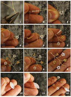 Basics of Jewelery Making 7 - Three ways to make pearl flowers . - Basics of Jewelery Making 7 – Three ways to make pearl flowers # - Diy Schmuck, Schmuck Design, Jewelry Making Tutorials, Beading Tutorials, Beading Ideas, Bijoux Fil Aluminium, Beaded Jewelry Patterns, Beaded Flowers Patterns, Bead Patterns