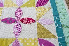 Playful Petals Starflower Mini Quilt : Fresh Lemons Quilts