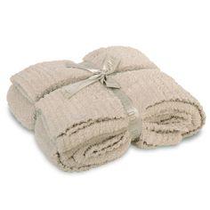 Barefoot Dreams Throw Blanket CozyChic Stone @LaylaGrayce