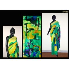 Georgette Hand Painted Saree. MADE on ORDER. 4 WEEKS DELIVERY TIME pd0050