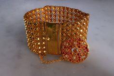 22k Antique Gold Lace Bracelet Charm Pendant Chinese Lace Bracelet, Bracelet Set, Cuff Bracelets, Chinese Takeaway, Gold Work, Gold Lace, Rose Cut Diamond, Antique Gold, Gems