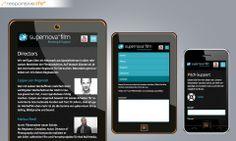Für die High-End-Marke der News on Video GmbH wurde von echonet ein neuer Webauftritt in Form von responsive Webdesign geschaffen. supernovafilm.com [Responsive Smartphone & Tablet] © echonet communication GmbH