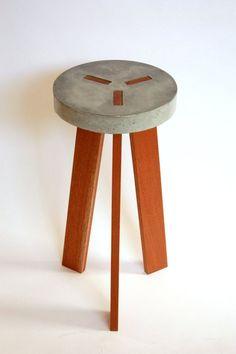 Y Concrete Stool by VerteXdesignstudio on Etsy:
