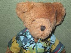 """Russ Berrie TEDDY BEAR Ritz Camera Center 18"""" Hawaiian Shirt Plush Stuffed 3+ #Russ"""