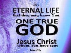 John 17-3 This Is Eternal Life purple