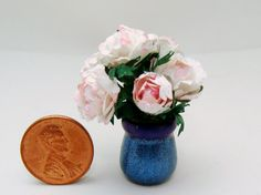 CHRISTMAS in JULY- Price Reduction ! PEONIES   OOAK  by beauxminis, $25.00