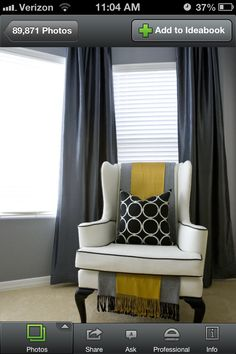 Medium gray walls, white trim and dark gray curtains... Perfect teen boy colors that they can grow into as young men.   Luke