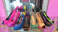 Oh the places you can go in these fashionable platform heels! Candies and other brands. Pumps and peep-toes. Brand new and some very gently worn -- sizes 6, 7, 8 and 8.5. At Clothes Attic'd in Naperville.