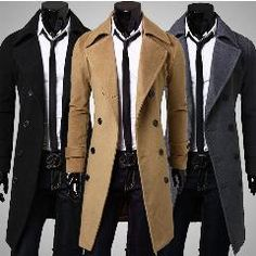 [ 21% OFF ] Winter Autumn 2016 Men Trench Coat Long Slim Fit Overcoat Jacket Wind Coats Fashion Outerwear Tops -Mx8