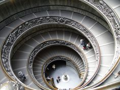 the famous staircase in the Vatican in Rome