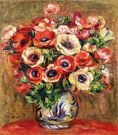 Bouquet of Anemones Pierre Auguste Renoir - circa 1915