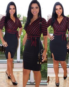 Really cute outfit. ⏺️This would be cute for cocktails with friends🔆or just a simple office party. Girly Outfits, Classy Outfits, Cool Outfits, Workwear Fashion, Work Fashion, Fashion Outfits, Types Of Dresses, Cute Dresses, Really Cute Outfits