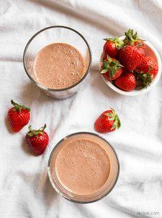 Homemade Chocolate Strawberry Milk