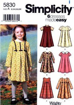Simplicity 5830 Girls Dress or Jumper Sewing Pattern Size... https://www.amazon.com/dp/B009UTS31A/ref=cm_sw_r_pi_dp_x_w8.fAbJGTSSRG