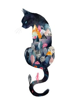 Art and illustration Art And Illustration, Cat Illustrations, I Love Cats, Crazy Cats, Cat Drawing, Cat Art, Cat Lovers, Stuffed Animals, Character Design