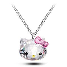 Crystal Cute Hello Kitty Cat Necklace