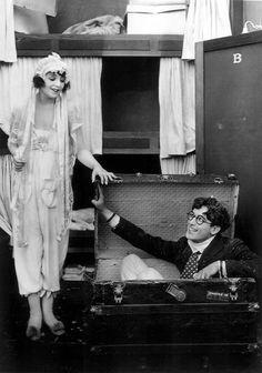 I think the funniest silent comedies are the Harold Lloyd Films. Here with   Bebe Daniels